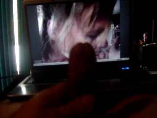stroking my shaved cock while watching mdj2000 suck a nice hard one