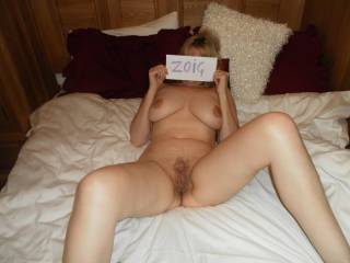 Very sexy!! Love to see behind that card - if only long enough to cum on your face having fucked that gorgeous wet pussy of yours!! hehe!