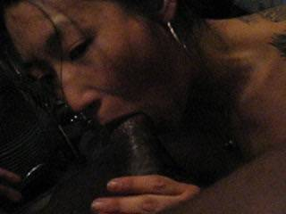 Mmmm, suck it girl.....suck it....yes suck that hot huge thick black cock.  I'd like to eat it....all of it.  Mrs. K