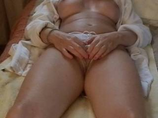 That is a very sexy clit--I love clits and yours is awesome--I wish it was a little closer as its so sexy a close up is needed. Thanks for that vid-your pussy is very lickable and fuckable but your clit is so proud to stand so tall for you-I love swollen clits-so sexy!!!