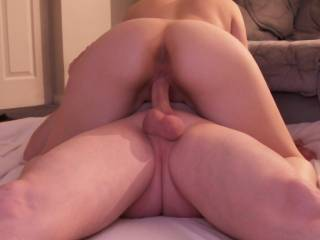 I would love to sneak up on you and give that fantastic ass a good ride while you are riding his cock...mmmm