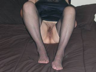 ...wife flashing on the bed...