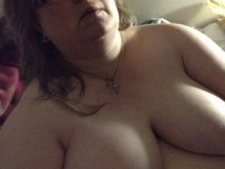 Another pic of my wife's big tits