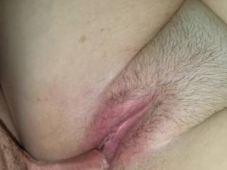 Me slowly fucking the Mrs and her pussy is wet as hell. Sorry for some of the camera work but I was fucking ;) -- no cum