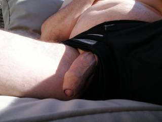 Just flashing my cock to my wife when we were at a Beach club. Enjoy summertime
