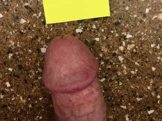 My husband's almost erect cock. Finally got him to post one of himself.