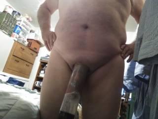 balls and cock sucked into pump