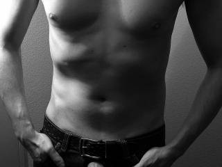 Black and white with my cock out through the zipper … Do you like taking it out through the zipper?