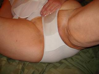 Love the way those tight panties accentuate your cunt and the beginnings of the curves of your ass.  SENSATIONAL!!!