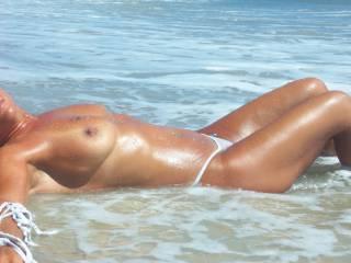 Throwback. on the beach.