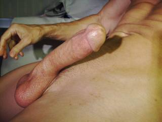 Sometimes I jerk off without tying up my balls. Are they smooth and white?