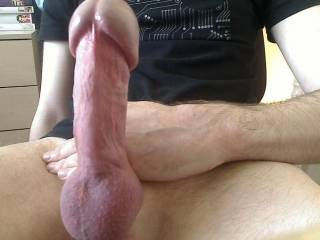 What a beautiful big sexy dick you have!.. I would love to watch as you gave it all to my wife. It would be such a turn on to watch her enjoy the pleasure that I think it would be capable of giving her. And I know she would love to take it in her mouth cum and all before you push it deep into her very willing pussy and fill that with lots of cum for me to clean up later!...