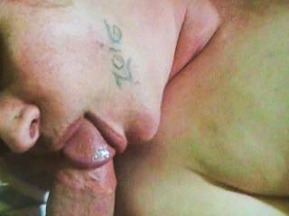 This is a great one.  I'd like to be kissing you and licking the head of his cock along with you.  I'd certainly eat your nice pussy a lot of the time as you suck him.