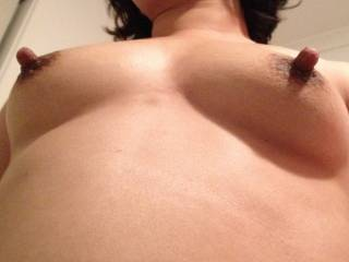 I'm so ready to cum as I imagine you rubbing those hard long nipples over the head of my cock and peehole....mmm I do love long nipples and Asian ladies so you are a dream cum true...love to get to know you better X