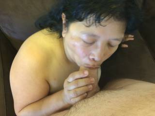 Blowjob after being fucked