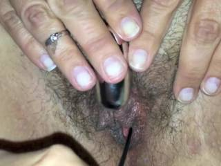 The vid is edited down from a longer one. We\'d been putting toys inside my milf\'s ass & pussy for a while when I finally couldn\'t take it any longer, but I was so turned on by that point that 30 secs after entering her ass, I blew my load & she came hard!