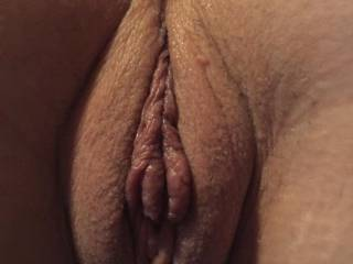 My juicy meaty pussy lips from behind!