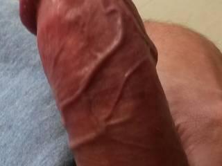 veiny hard staff! I loveto feel warm tongue on it