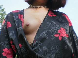 I love the feel of the sun on my perky nipple. What do you think?