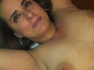 My gorgeous wife Patricia, posing naked in a hotel room