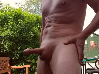 It is great to be nude and aroused outdoors don't you think?