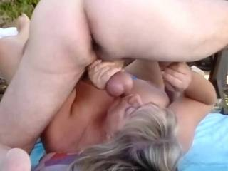 My dirty sweet plump wife tea bags me, sucks and licks my nuts, stretches my balls, flicks and tickles my taunt scrotum, and shoves some ice cubes up my asshole, then smacks my spread ass cheeks hard!  God, I love my wife!