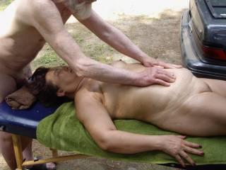 Interracial sex playing.