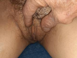 Inspection of her yummy tight pussy