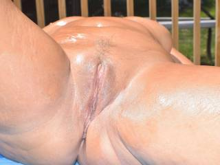 oiled pussy.