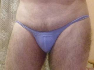 Another tiny panties for my small cock .. do u like them ?