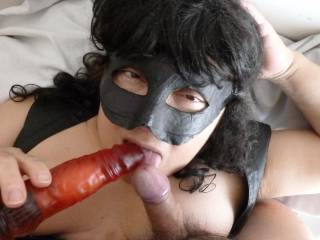 Blowjob and toy