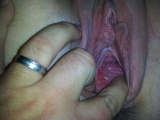 """you can see his cum. she just got fucked by her new boyfriend and he has the biggest cock she has taken at 9"""""""