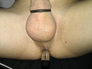 Masturbating with a dildo in my butt  And a cockring!!!