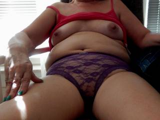 I love her panties. Would she like me to suck her pussy through them?