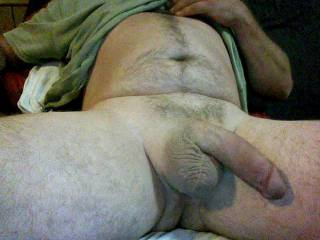 like my big shaved cock and balls? would you lick me from underneath?