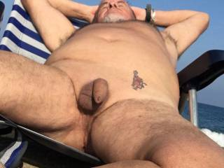 Nice sun on my cock I wonder what else would be nice on it
