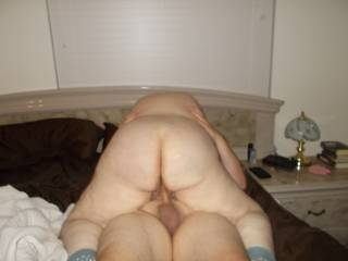 My wife invited her boyfriend over for a threesome. When he got there she was in our bedroom. I told him to go upstairs and fuck her and to text me when she was ready for the second cock. I joined them and he and I fucked her for 4hrs. We all had a blast.