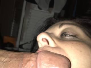 Wife sucks my big fat cock