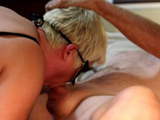 She really likes taking it deep in her throat.. even with a little help... We are only interested in comments from women and couples please...