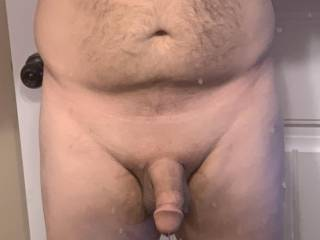 Freshly trimmed and shaved smooth. Ready for some big titties to fuck and cum on