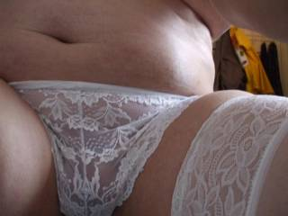 Nice white lace one,s mmmmm sexy.