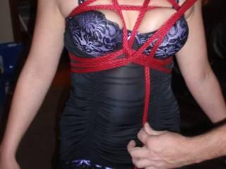 tied up, bound, fetish, ropes, bondage, lingerie