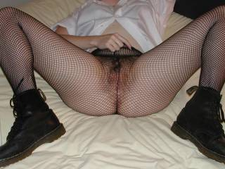 all dressed up for Halloween...waiting for someone to tear open my fishnets and have their way with me!  would anyone like help me??