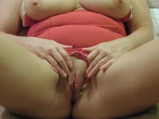 You are gorgeous with an absolutely beautiful pussy!  Your breasts are sooo ready to be caressed and sucked!!