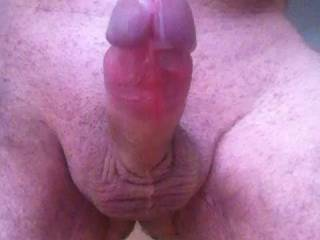 My fat horny cock was throbbing to spurt.