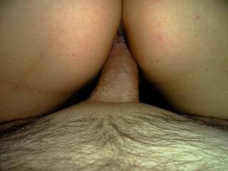 MY woman riding my cock, reverse cowgirl style