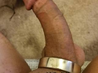 Temporary tattoo and chrome cock ring