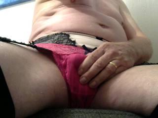 Panty wanking