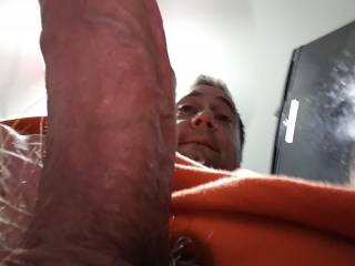 This is a close up pic of my rock hard thick 7 inch cock