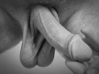 Sometimes, warm hanging balls and a semi-hard cock... can be inviting. Do you agree?